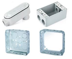 acero galvanizado. /Distintos tama/ños Caja galvanizada de acero inoxidable para contadores de agua/