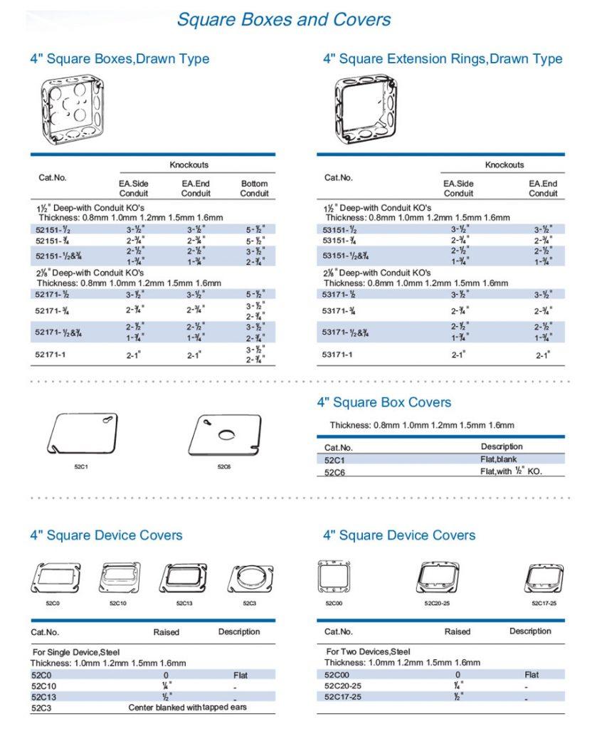 Cajas 4x4 y tapas