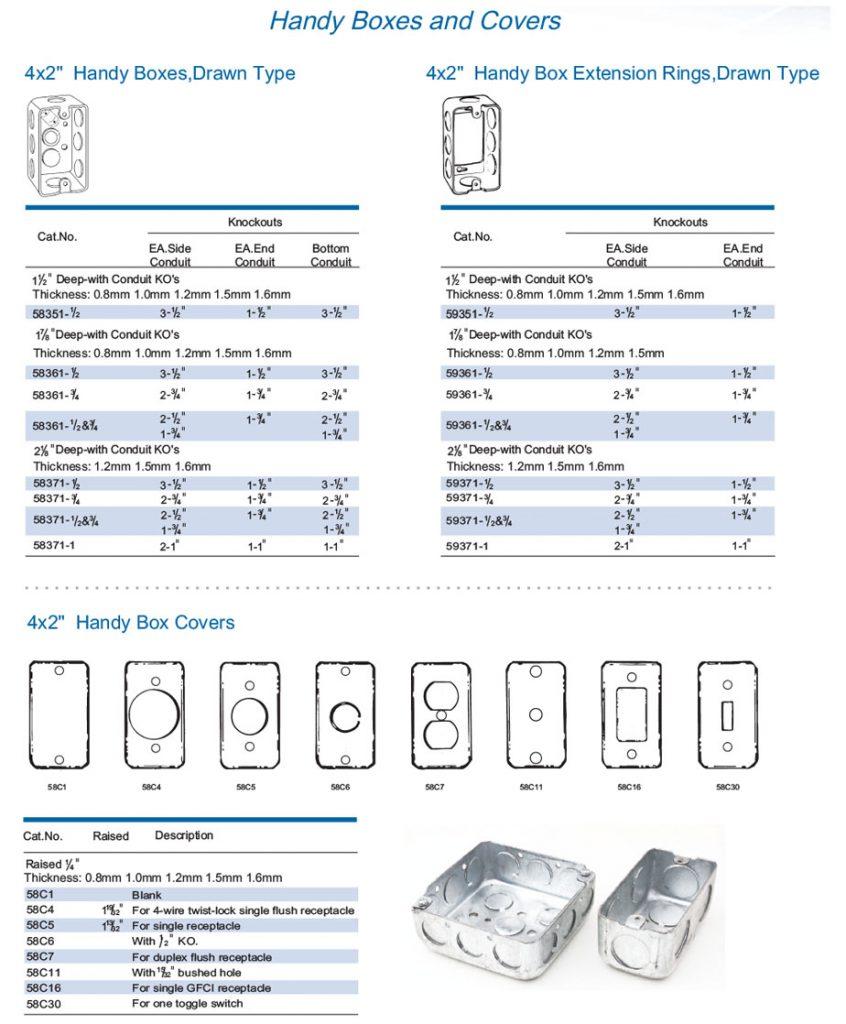 Cajas 2x4 y tapas
