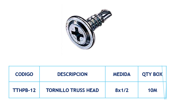 Tornillos Truss Head
