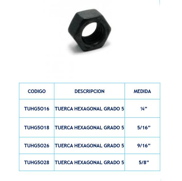 Tuerca Hexagonal Grado 5